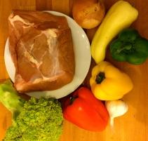 Zutaten buntes Asia Beef