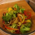 Gemüse beiseite stellen