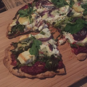 fertige Herbstpizza